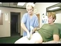 Nurse Milks Young Boy and Gets Blasted With Jizz