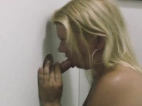 Blonde Amateur Smoking Dick And Cigarette At Glory Hole