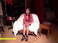 19yo amateur gets licked at her first casting