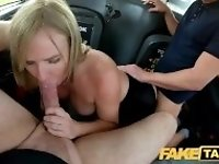 """Fake Taxi Greedy blonde MILF Summer Rose demands two cocks in the cab"""